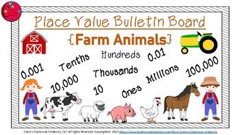 Place Value Bulletin Board {Farm Theme}