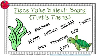 Place Value Bulletin Board {Frog Theme}