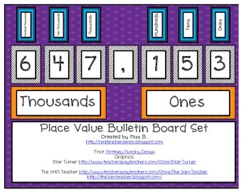 Place Value Bulletin Board Set {to billions}