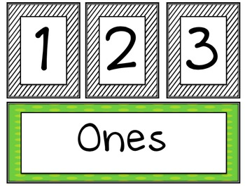 Place Value Bulletin Board Set {to millions}