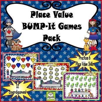 Place Value Bump-It Game Pack
