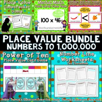 place value bundle by amber thomas teachers pay teachers. Black Bedroom Furniture Sets. Home Design Ideas
