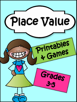 Place Value Printables and Games