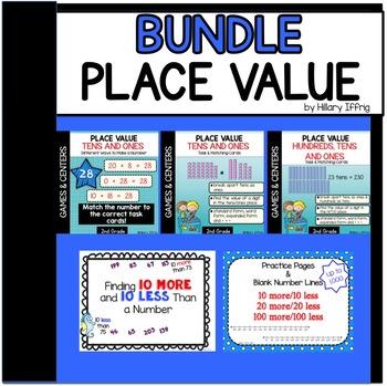 Place Value Bundle - Games & Worksheets (2nd-3rd Grade)
