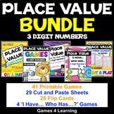 Place Value Bundle: 3 Digit Numbers: Place Value Activities and Games