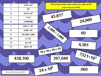 Place Value Bundle {5.NBT.1-4} Math Bump Games Common Core Aligned