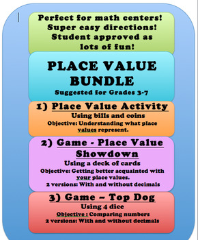 Place Value Bundle - Activator and Games