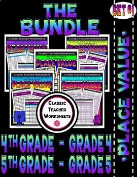 Place Value Bundle - Set 1 - 4th Grade (Grade 4) - 5th Grade (Grade 5)