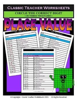 Place Value Bundle - Set 1 - 5th Grade (Grade 5) - 6th Grade (Grade 6)