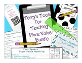 Place Value Math Centers -- Task cards with QR codes