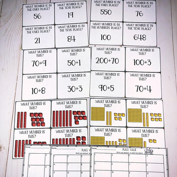 Place Value Bundle- Task Cards and Printables