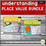 Place Value Bundle {Theme Booklet & Task Cards}