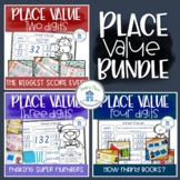 Place Value Bundle Two Three Four Digit Learning Centers