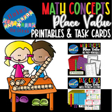 Place Value Bundle - Worksheets, Task Cards - 3rd grade TEKS, 4th grade CCSS