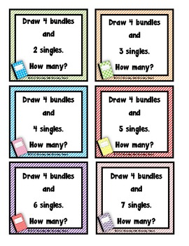 Place Value: Bundles and Sticks/ Singles  (11-50) Journals for Math