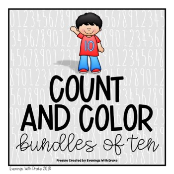 Place Value (Bundles of Tens) Count and Color {Freebie}