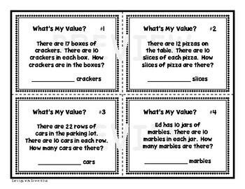 Place Value (Bundles of Tens) Task Cards Set 2