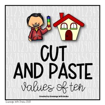 Place Value (Bundling Tens) Cut and Paste Printables