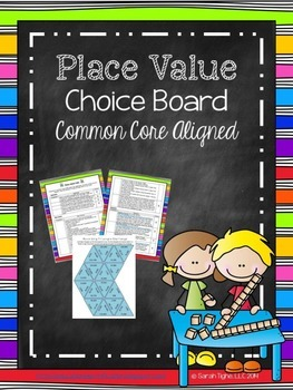 Place Value Choice Board (Common Core Aligned)