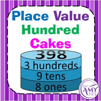 Place Value Cakes- Hundreds Activity