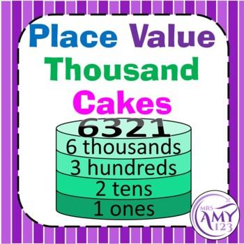 Place Value Cakes -Thousands Activity