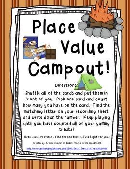 Place Value Campout Scoot