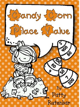 Place Value Candy Corn in Black and White