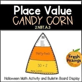 Place Value Candy Corn- Halloween Math Activity & Bulletin