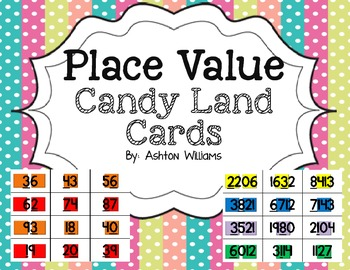 Place Value Candy Land Cards