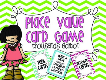 Place Value {Card Game} Thousands edition