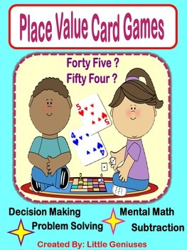 Place Value Card Games For Understanding of Key Concepts