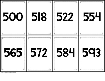 Place Value Cards - 2 Digit & 3 Digit Numbers