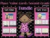Place Value Cards 2nd Grade Bundle