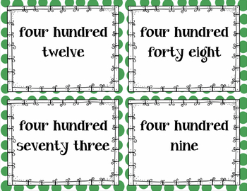 Place Value Cards 2nd Grade - Set One