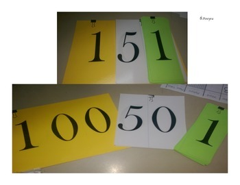 Place Value Cards: Compose and Decompose Numbers, Work Mats, and Game