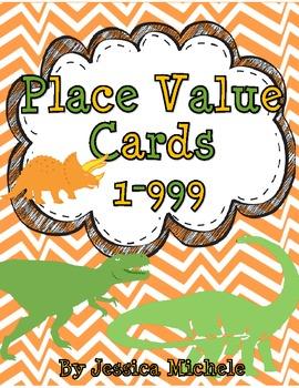 Place Value Cards {Dinosaur Theme}