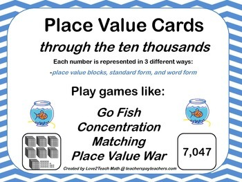 Place Value Cards- For a variety of different card games