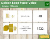 Place Value Cards - Montessori Golden Beads