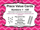 Place Value Cards: Numbers 1 - 100; Use for a variety of m