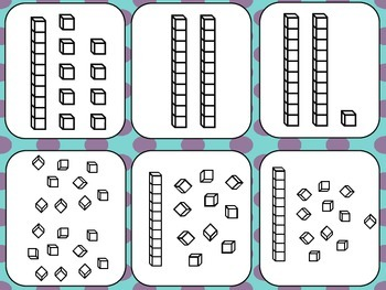 Place Value Cards- Numbers 1-30  Use for a variety of different math games