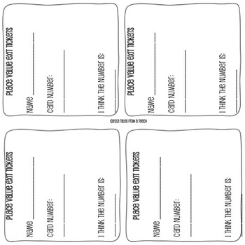 Place Value Cards: Around the Room Scoot