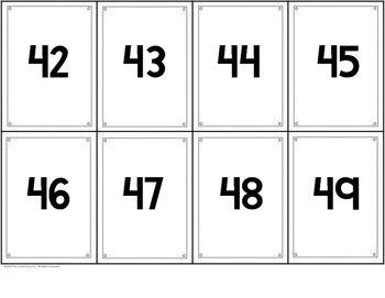 Place Value Cards - Tens Place