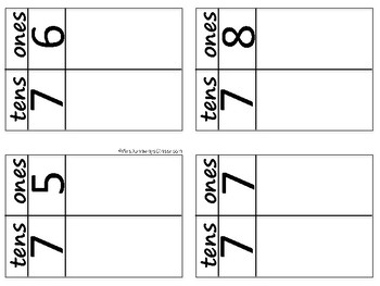 Place Value Cards Using Manipulatives