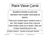 Place Value Cards for Representing Numbers to 120