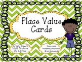 Place Value Cards ones, tens, hundreds, thousands, and ten