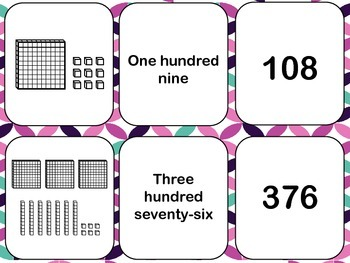 Place Value Cards through the Hundreds- Use for a variety of games