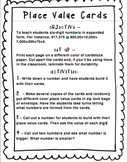 Place Value Cards (up to Hundred Thousands)