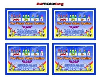 Place Value Castles a Place Value Poster with Worksheets