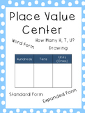 Place Value Center