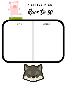 Place Value Center: 3 little pigs